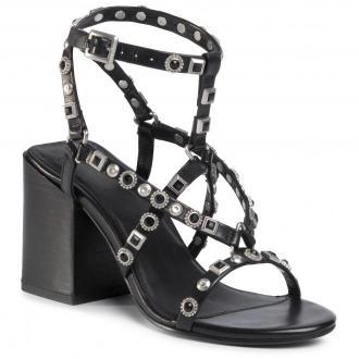 Sandały BRONX - 84837-A Black/Silver 187