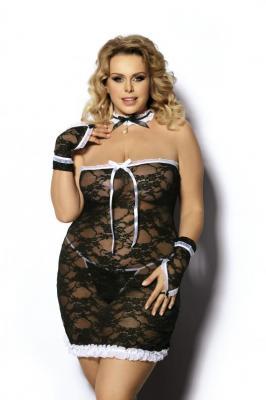 Halka CANTREA kuszący kostium pokojówki