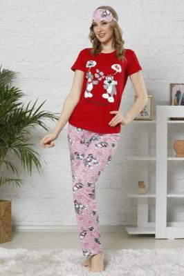 Piżama damska SLEEPY RED