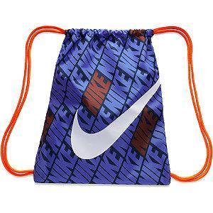 Niebieski worek Nike z pomarańczowymi sznurkami