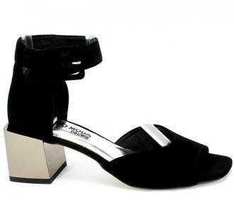 Sandały Euro Moda 20 3319/003-P Czarny Skóra