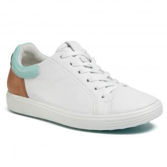 Sneakersy ECCO - Soft 7 W 47009351895 White/Eggshall Blue/Lion