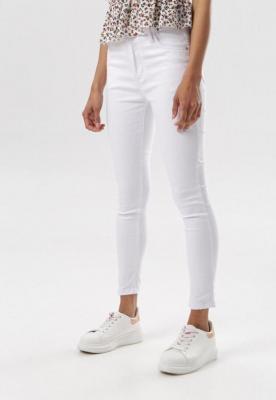 Białe Spodnie Skinny Oridella