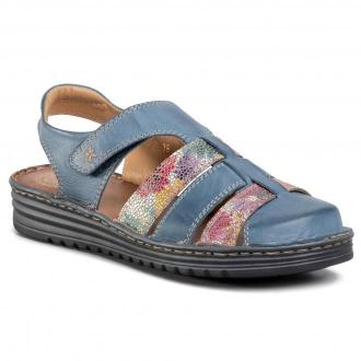 Sandały WALDI - 0734 Jeans/Kwiaty Na Kol.T
