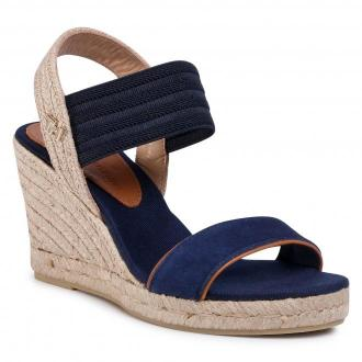 Espadryle TOMMY HILFIGER - New Tommy Basic Opened Toe Wedge FW0FW04777 Desert Sky DW5