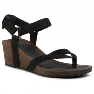 Sandały TEVA - Mahonia Wedge Thong 1110765 Blk