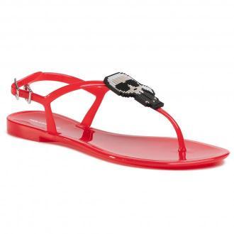 Sandały KARL LAGERFELD - KL80060  Red Rubber
