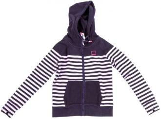 bluza BENCH - Her. Zip Through Hoody Placed Strip Placed Stripe Sweat Essentiall (P1373)
