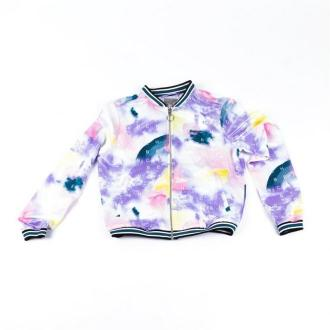 kurtka BENCH - Bomber With Aop And Tippings Tied Dye Letter Aop (P1186)