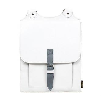 plecak skórzany Bookpack biały
