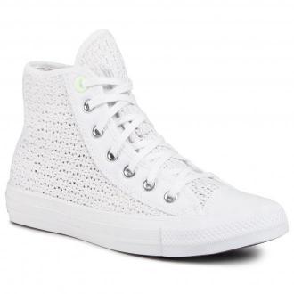 Sneakersy CONVERSE - Ctas Hi 567654C White/Barely Volt/White