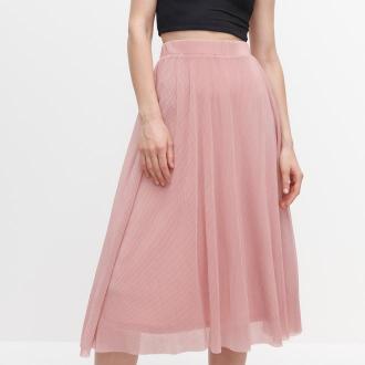 Reserved - Prążkowana spódnica - Różowy