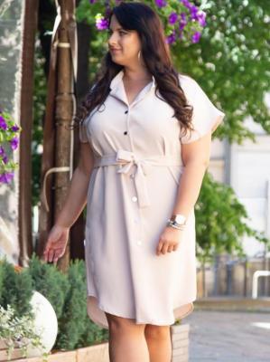 Sukienka na komunie szmizjerka AGNES beżowa PROMOCJA