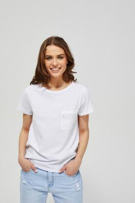 T-shirt z koronkowym zdobieniem