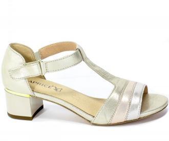 Sandały Caprice 9-28207-24 977 Lt Gold Comb Złoty Skóra
