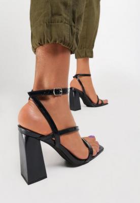 Czarne Sandały Aeridine