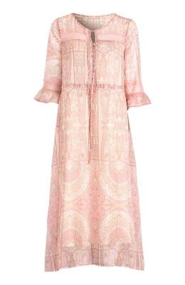 Cream Sukienka Johanna ró?owy we wzory