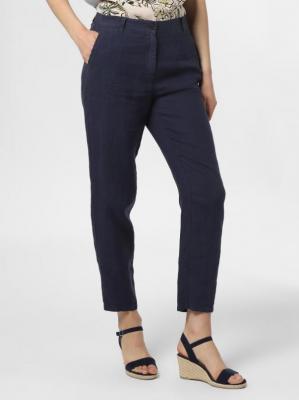 Marc O'Polo - Damskie spodnie lniane – Skrea, niebieski