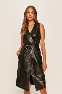 Karl Lagerfeld - Sukienka skórzana