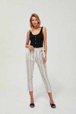 Spodnie w paski z wiązaniem