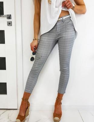 Spodnie damskie CHECK GREY UY0477