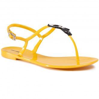 Sandały KARL LAGERFELD - KL80060 Yellow Rubber