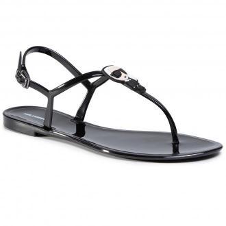 Sandały KARL LAGERFELD - KL80086  Black Rubber