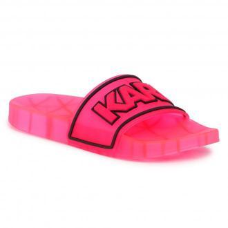 Klapki KARL LAGERFELD - KL80710 Hot Pink Rubber