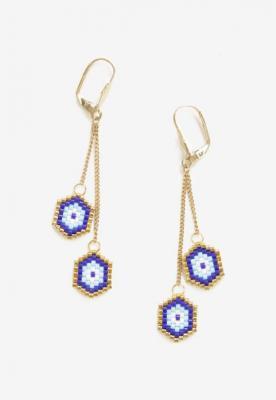 Złoto-Niebieskie Kolczyki Alamilia