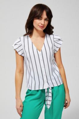 Koszula w paski z krótkim rękawem