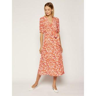 Tommy Hilfiger Sukienka letnia Leonora Wrap WW0WW27544 Pomarańczowy Regular Fit