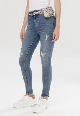 Niebieskie Jeansy Skinny Hysana