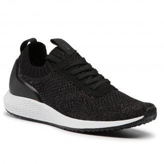 Sneakersy TAMARIS - 1-23714-25 Black Silver 019