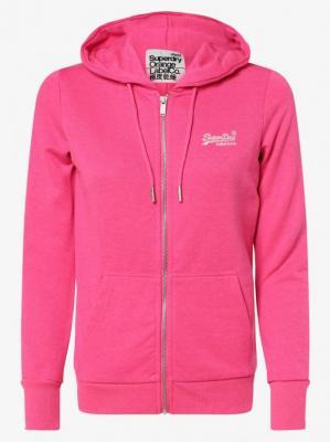 Superdry - Damska bluza rozpinana, różowy