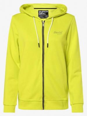 Superdry - Damska bluza rozpinana, żółty