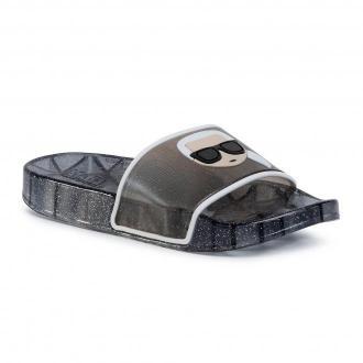 Klapki KARL LAGERFELD - KL80705 V00 Black Rubber
