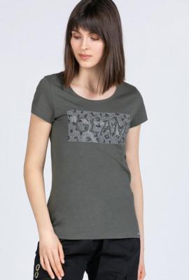 T-shirt z połyskującym panelem