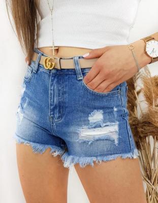 Szorty damskie jeansowe FROSTY niebieskie SY0195