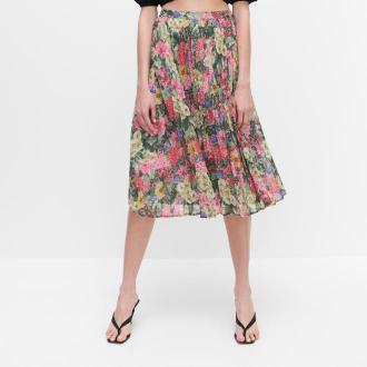 Reserved - Plisowana spódnica w kwiaty - Wielobarwny