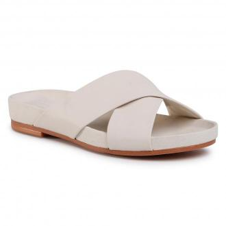 Klapki CLARKS - Pure Cross 261488514 White Leather