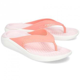 Crocs Literide - Japonki Damskie - 205182 MELON/WHITE