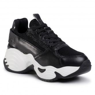 Sneakersy EMPORIO ARMANI - X3X088 XM328 N227 Blk/D.Gr/Blk/Gun/Blk