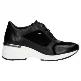Wojas Funkcjonalne Czarne Damskie Sneakersy