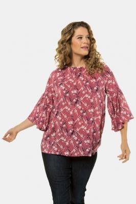 Duże rozmiary Bluzka Carmen, damska, czerwony, rozmiar: 46/48, wiskoza, Ulla Popken
