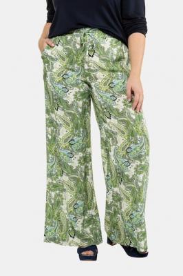 Duże rozmiary Spodnie, damska, zielony, rozmiar: 54/56, wiskoza, Ulla Popken