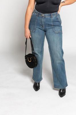 Duże rozmiary Dżinsy Marlena model Mary, damska, niebieski, rozmiar: 50, baweÅna, Ulla Popken