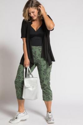 Duże rozmiary Spodnie 7/8, damska, zielony, rozmiar: 62, baweÅna, Ulla Popken