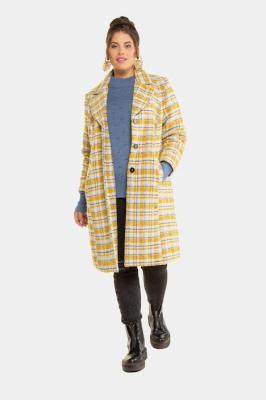 Duże rozmiary Płaszcz w kratkę, damska, pomarańczowy, rozmiar: 50/52, poliester, Studio Untold