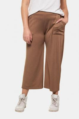 Duże rozmiary Spodnie culotte, damska, beżowy, rozmiar: 42/44, wiskoza/poliester, Studio Untold