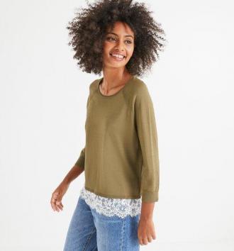 Sweter z koronka